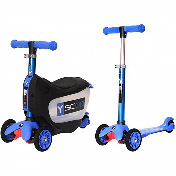 Самокат Y-Scoo Mini Jump&Go Dark blue
